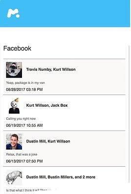 facebook mesanger mob screen